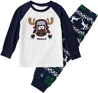 Familia a juego Pijamas para Navidad, Papá Mamá Niño Bebé Dibujos Animados Impreso Ropa de dormir Conjuntos