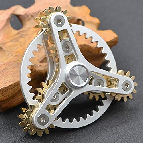 Fidget Spinner Rosso e nero ad alta velocità 3-5 Min GIRA libero caso Key Chain