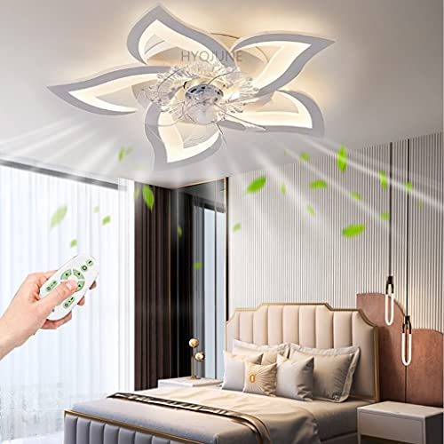 Ventiladores LED Regulable Lampara Ventilador Techo Ventilador Silencioso Modern Ceiling De Techo Con Control Remoto Lámpara Alexa Blanco Plafón Creative Iluminación Interior Techo Inteligente