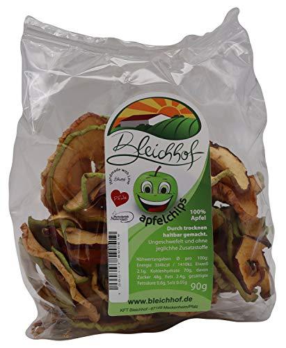 BLEICHHOF® Apfelchips Classic - [10er Pack] Leckere Trockenfrüchte ohne Zucker - Perfekte Nascherei - Nachhaltig hergestellt im Familienbetrieb in Meckenheim (10x90g)