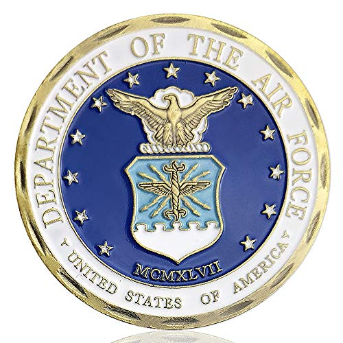 Air Force Military Challenge Coin USAF Core Values Veteran Airman Commemorative Coin