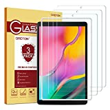 OMOTON [3 Stück] Panzerglas für Samsung Galaxy Tab A (2019) T510 & T515 [10.1 Zoll], mit Schablone, [2.5D Kanten] [9H Festigkeit] [Kratzfest] [Bläschenfrei] Schutzfolie für Tab A 10.1