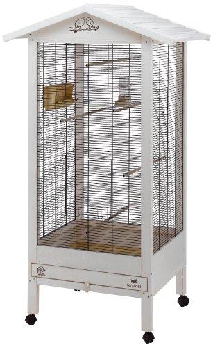 Ferplast 56160514 Vogelvoliere HEMMY, Maße:  84,5 x 65,5 x 165 cm