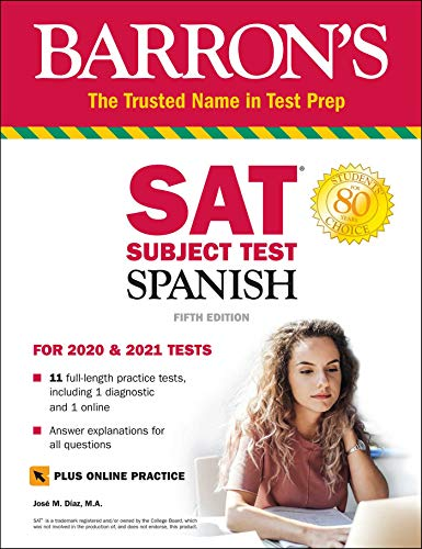 SAT Subject Test Spanish with Online Test (Barron's SAT Subject Test)