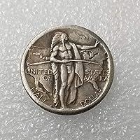 絶妙なコインアンティーク工芸品アメリカの1934D外国記念コイン真鍮銀メッキシルバーダラーシルバーラウンドコイン
