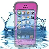 RedPepper Iphone 5 Waterproof Case Shockproof and Dirtproof Case for Iphone5 (Pink)