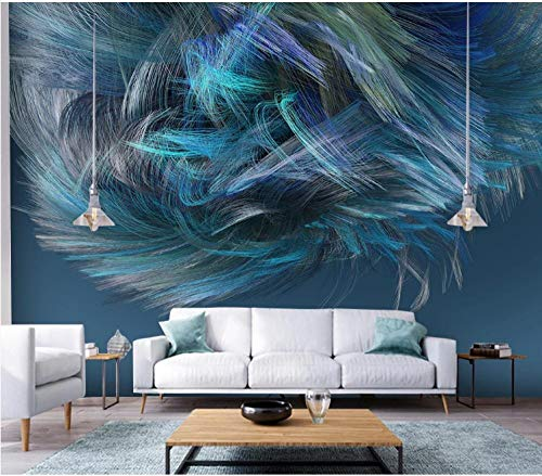 3D Wallpaper Canvas Art Print Wall Mural Poster Abstract Geometric Line Feather Photo Wallpapers Murals Picture Design Modern 430X300Cm