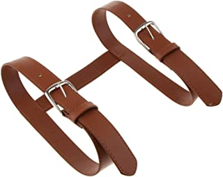 SM SunniMix Durable Adjustable PU Leather Strap Travel Picnic Blanket Carrier