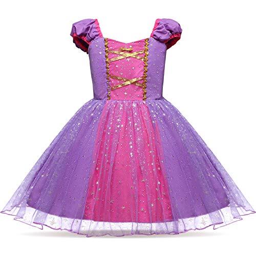 Lito Angels Mädchen Prinzessin Rapunzel Kostüm Geburtstag Halloween Weihnachten Verkleidung Party Outfit Größe 5-6 Jahre