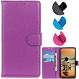 YOUKIT Wallet Case for Samsung Galaxy Note 20, Premium PU Leather Case Flip Folio Cover with Card Slots, Magnetic Closure, Kickstand (Shockproof TPU Interior Case) for Samsung Note 20 5G (Purple)