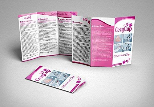 Rosa Menstruationstasse CozyCup CLASSIC – Menstruationskappe klein – aus medizinischem Silikon inkl. Stoffbeutel (Gr 1) - 8