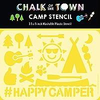 Chalk of the Town キャンプ用プラスチックステンシル 子供用