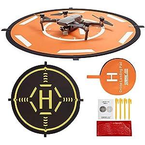 Drones Landing Pad,STARTRC Universal Waterproof Portable Foldable Landing Pads for DJI FPV Drone/DJI Mavic 2 / Mavic Pro/Mavic Air 2/SPARK/Mavic Mini/Mavic Mini 2(80CM) by Startrc