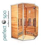 Infrarotkabine'Teneriffa' Infrarot Sauna für bis zu 3 Personen Wärmekabine Infrarotsauna Eckvariante