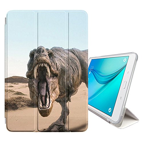 STPlus Dinosaur Prehistoric Animal Smart Cover with Back Case + Auto Sleep/Wake Function + Stand for Samsung Galaxy Tab A 8.0' (2017) (T380/T385 Series)