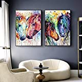 CloudShang Salon de Decoracion De la Lona Arte Pintura Pared Arte Cuadro Animal Acuarela Poster Moderno Caballo Salon Recamara Oficina Pared Caballo Impresiones I14044