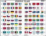 Larsen L2 Rompecabezas de la Bandera, edición en Polaco, Puzzle de Marco con 80 Piezas