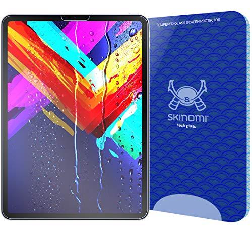 Skinomi TechGlass [1-Pack] [Clear HD Glass] Screen Protector for Apple iPad Pro 11 (2018) Transparent [HD][Full Coverage] Ballistic Glass