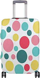 Luggage Cover Colorful Polka Dot Pattern Travel Case Suitcase Bag Protector 3D Print Design