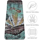 LORVIES Single Tree Solitary Tree Sunset Yoga Mat Eco Friendly Non-Slip Anti-Tear Exercise & Fitness Mat for Yoga, Pilates, Stretching, Meditation, Floor & Fitness Exercises (72 X 32 Inch)