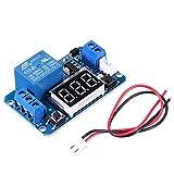 Módulo electrónico Módulo de relé de retardo de tiempo de activación con pantalla digital LED 0-999S 0-999min 0-999H TRABAJO DE TRABAJO/DERALO-TRABAJO 5V Equipo electrónico de alta precisión