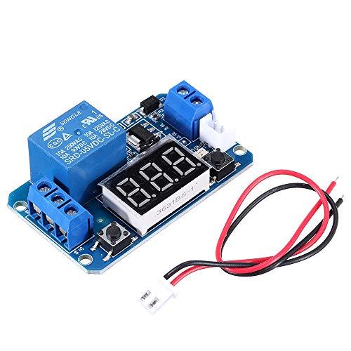 MING-MCZ Duradero Módulo de relé de retardo de Tiempo de activación con Pantalla Digital LED 0-999S 0-999min 0-999H Trabajo DE Trabajo/DERALO-Trabajo 5V Fácil de Montar (Color : 0-999S delay-Work)