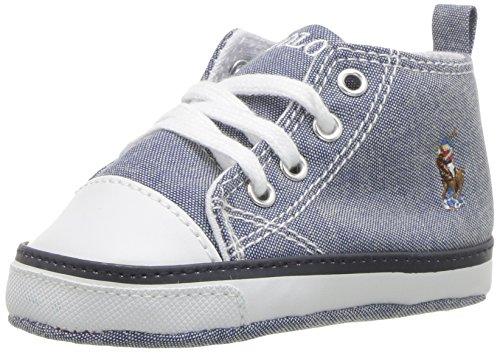 Polo Ralph Lauren Kids Baby-Girl's Camden II EZ Crib Shoe, Light Pink, 4 M US Infant