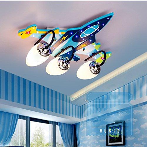 Ali Kinderzimmer Deckenlampe Jungen Kreative Flugzeug Lichter Schlafzimmer LED Augenschutz Mädchen Karikatur Raum Lichter / E14 * 3/4 (größe : 47 * 40 * 15CM)