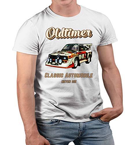 Nuts Shirts - Auto S1 Herr der Ringe T Shirt Oldtimer Modellautos Lustige Geschenke Zum 60 Geburtstag Mann Witzige Geschenke Zum 50 Geburtstag Mann Herren Tshirt Prime Quality Kurzarm (Weiss, 2XL)