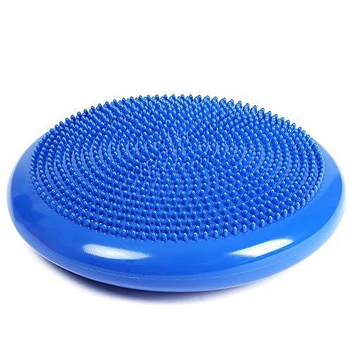 Bayda - Cojín hinchable de masaje sobre silla de yoga, pilates, esterilla de equilibrio de fitness de masaje con tubo hinchable