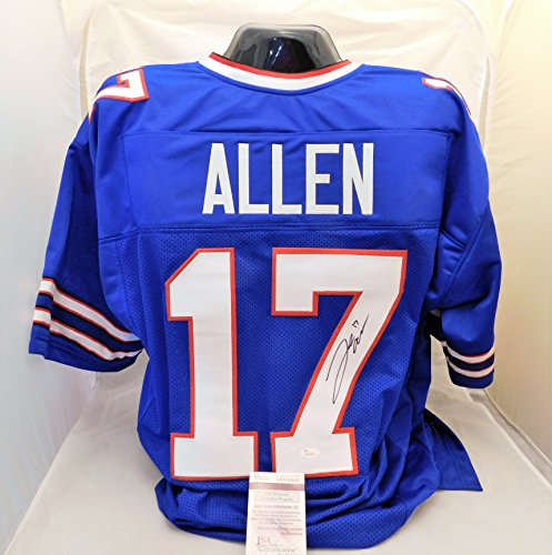 Josh Allen Autographed/Signed Authentic Style Blue Bills Jersey JSA Witness COA
