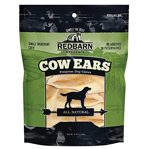 Redbarn Cow Ears, All-Natural Dog Chews, 10 Pack (1-Count)