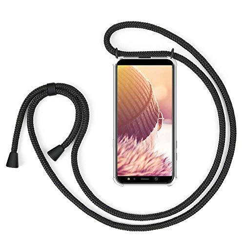 Handykette Handyhülle mit Band für Samsung Galaxy J6 Plus Cover - Handy-Kette Handy Hülle mit Kordel Umhängen -Handy Halsband Lanyard Case/Handy Band Halsband Necklace