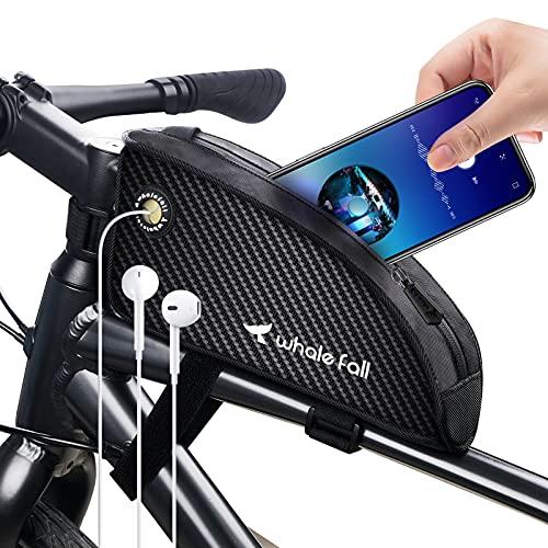 whale fall Fahrrad Rahmentasche wasserdichte Fahrrad Oberrohrtasche Fahrrad Vordertasche Fahrrad Handyhalterung Große Kapazität Fahrrad Handytasche Fahrradzubehör für alle Fahrräder mit Rahmen