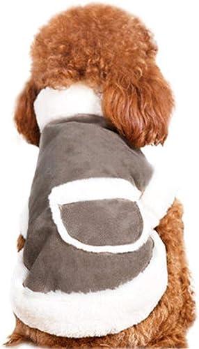 LVRXJP12 Pet Kleidung Herbst und Winter Kleidung Verdickung Warm halten Teddy Weste Samtweste Soft Velcro Tasche Dekoration Universal