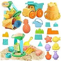 24-Pieces CUTE STONE Beach Sand Toys Set
