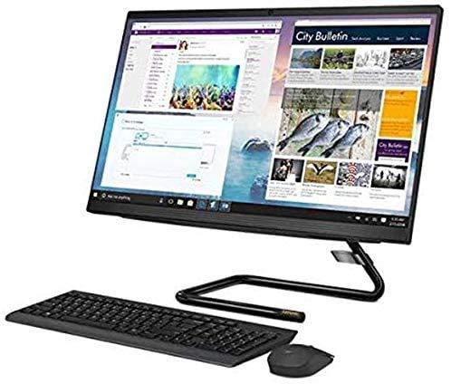Lenovo IdeaCentre A340 23.8' FHD Touchscreen All-in-One AIO Desktop Computer, Intel Quad-Core i3-9100T (Beats i5-7400t), 4GB DDR4, 256GB PCIe SSD, DVDRW, Windows 10, iPuzzle Mouse Pad