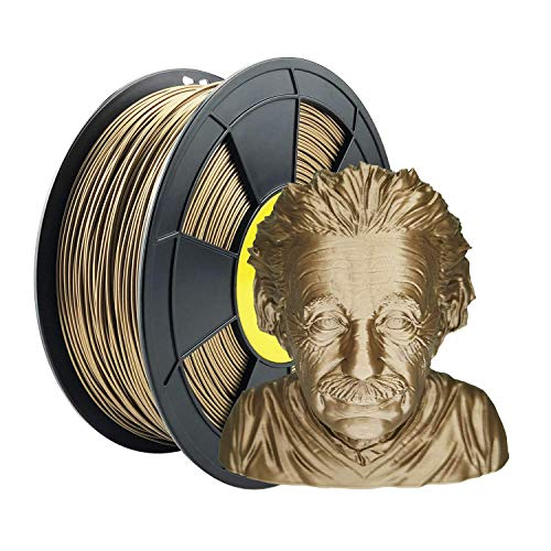 ZIRO PLA Metal Filament 1.75mm,3D Printer Filament PLA PRO Metal Copper 1.75 1KG(2.2lbs), Dimensional Accuracy +/- 0.03mm,Copper
