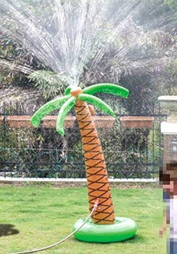Cozyswan 噴水 椰子の木 ウオータスプレーインフレータブル 膨張式 子供おもちゃ ビーチおもちゃ ビーチボ...