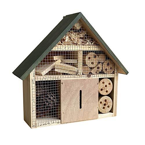 Insektenhotel hängend 300 x 90 x 280 mm, naturbelassene Nisthilfe für verschiedene Insekten