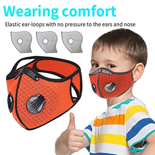 Amazing Deal Kids Solid Color Riding Hanging Ear Face Macks, Bicycle Bandanas Bandanas, Outdoor Dust...