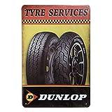 Poi's Dunlop - Targa da Parete in Metallo, Stile retrò, Stile Vintage, per casa, Garage, Bar, Pub, 20 x 30 cm