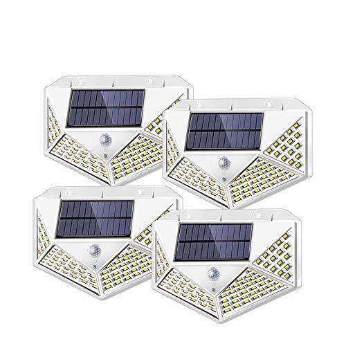 GDXFSM 4 Teile/Neuer Outdoor solar leuchten 100 LEDs Garten Bewegung Sensor Light Upgrade weitwinkel drahtlose wasserdichte wandlichter