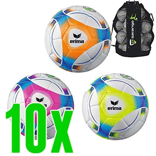 Sarango Sport Erima Hybrid Lite 290 Fußball 10er Ballpaket inkl. Ballsack NEU, Wähle Deine Größe:4