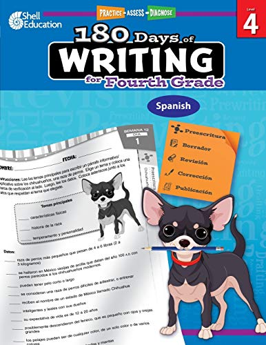 180 Days of Writing for Fourth Grade (Spanish) (Spanish Edition)