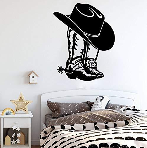 Cowboy Cowgirl Boot & Amp; Hut Western Schuh Auto Laptop Wandaufkleber Aufkleber Cowboy Cowgirl Boot Vinyl Dekor 56Cmhighx45Cmwide