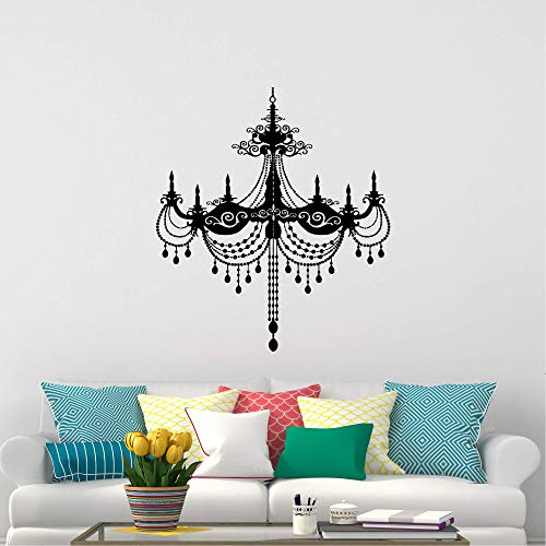 Wall Stickers Decal for Living Room Chandelier Wall Decal Luxury Plafond Light Lamp Vinyl Sticker Decoration for Boys Girls Bedroom Livingroom Room Window Inspirational Décor 39.4 in