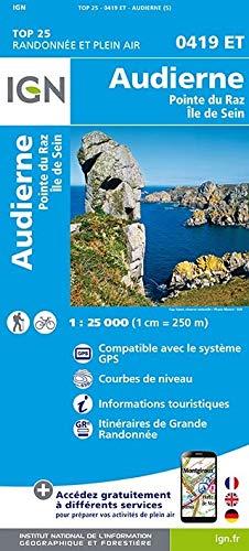 Audierne 1 : 25 000: Pointe du Raz. Île de Sein