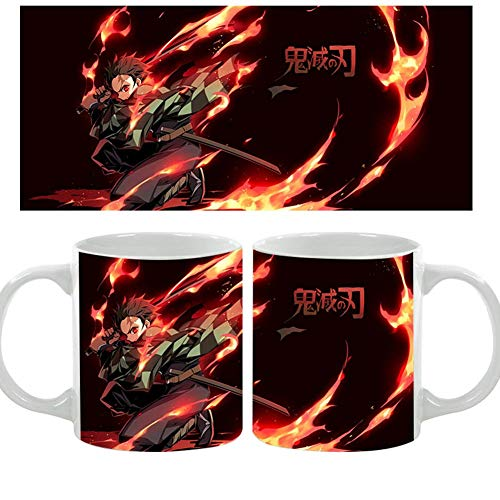 Mini Office Depot Japanische Anime Demon Slayer Becher Tassen, Anime Charaktere Keramik Kaffee Tee Tasse Heizung Wasser Verfärbung Becher Farbwechsel Tasse Geschenk für Anime Fans(Style 06)