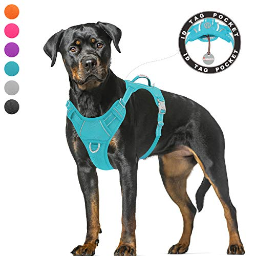 BARKBAY No Pull Dog Harness Large Step in Reflective Dog Harness with...